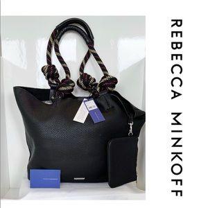 NWT Rebecca Minkoff Black Leather Rope Tote